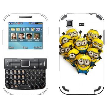 Виниловая наклейка «Миньоны приветствуют» на телефон Samsung C3222 Duos