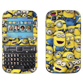 Виниловая наклейка «Много миньонов» на телефон Samsung C3222 Duos