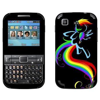 Виниловая наклейка «My little pony paint» на телефон Samsung C3222 Duos