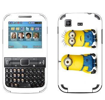Виниловая наклейка «Недовольные миньоны» на телефон Samsung C3222 Duos