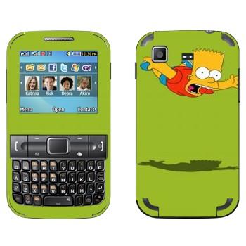 Виниловая наклейка «Падающий Барт Симпсон» на телефон Samsung C3222 Duos