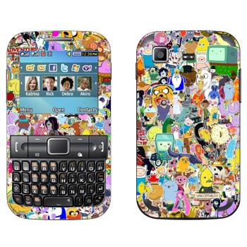 Виниловая наклейка «Персонажи Adventuretime» на телефон Samsung C3222 Duos