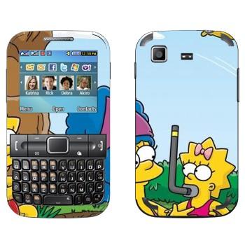 Виниловая наклейка «Семейка Симпсонов» на телефон Samsung C3222 Duos