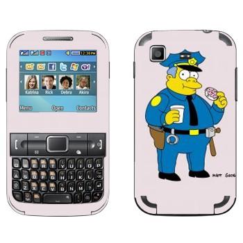 Виниловая наклейка «Шеф полиции Клэнси Виггам в Симпсонах» на телефон Samsung C3222 Duos