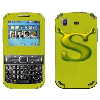 Виниловая наклейка «Шрек логотип» на телефон Samsung C3222 Duos