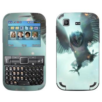 Виниловая наклейка «Сова в железной маске - Легенды ночных стражей» на телефон Samsung C3222 Duos