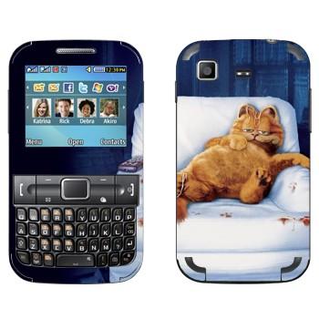 Виниловая наклейка «Толстый Гарфилд на кресле» на телефон Samsung C3222 Duos