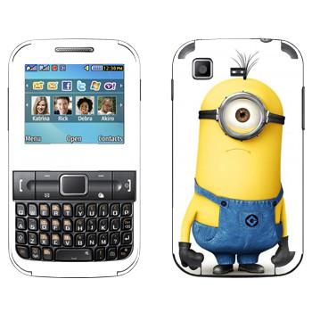 Виниловая наклейка «Удивленный Миньон» на телефон Samsung C3222 Duos