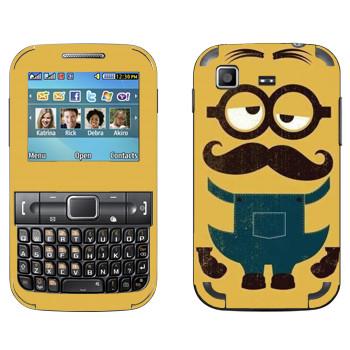 Виниловая наклейка «Усатый Миньон» на телефон Samsung C3222 Duos