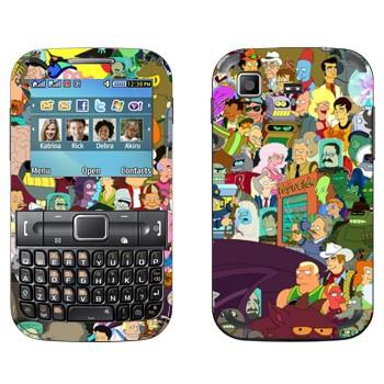 Виниловая наклейка «Все персонажи Футурамы» на телефон Samsung C3222 Duos