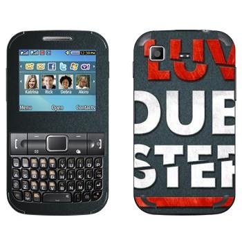 Виниловая наклейка «I love Dubstep» на телефон Samsung C3222 Duos