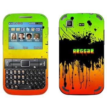 Виниловая наклейка «Reggae» на телефон Samsung C3222 Duos