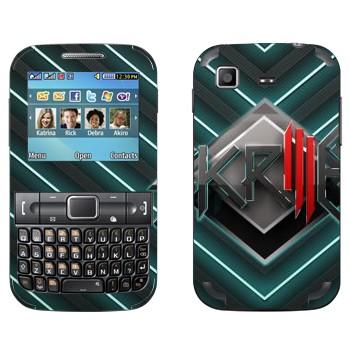Виниловая наклейка «Skrillex логотип» на телефон Samsung C3222 Duos