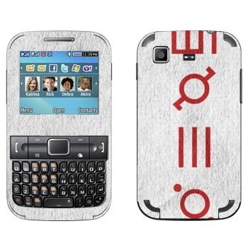 Виниловая наклейка «Thirty Seconds To Mars» на телефон Samsung C3222 Duos