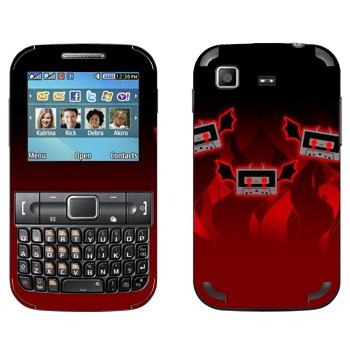 Виниловая наклейка «Аудио-кассеты-дьяволята» на телефон Samsung C3222 Duos