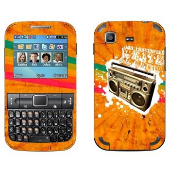 Виниловая наклейка «Бумбокс на оранжевом фоне» на телефон Samsung C3222 Duos