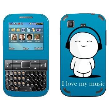 Виниловая наклейка «Человечек в наушниках» на телефон Samsung C3222 Duos