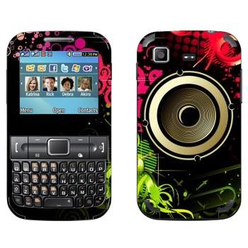 Виниловая наклейка «Динамик в ярких цветах» на телефон Samsung C3222 Duos