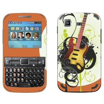 Виниловая наклейка «Электрогитара желтая» на телефон Samsung C3222 Duos