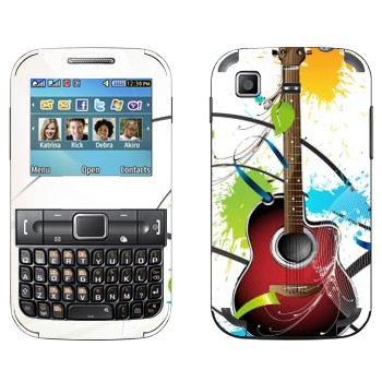 Виниловая наклейка «Гитара и пятна краски» на телефон Samsung C3222 Duos