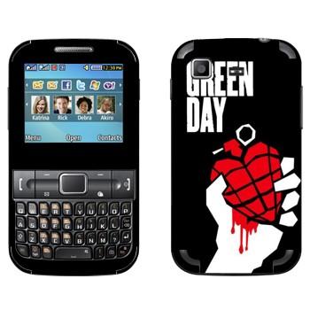 Виниловая наклейка «Группа Green Day» на телефон Samsung C3222 Duos