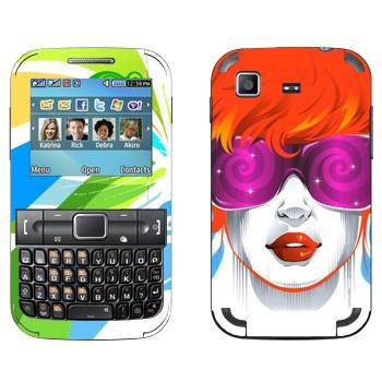 Виниловая наклейка «Красочная девушка» на телефон Samsung C3222 Duos