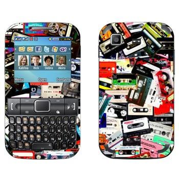 Виниловая наклейка «Много аудио-кассет» на телефон Samsung C3222 Duos