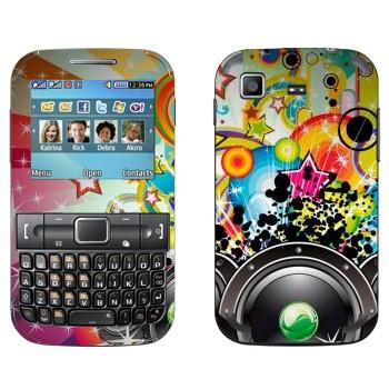 Виниловая наклейка «Музыкальная экспрессия - Динамики» на телефон Samsung C3222 Duos