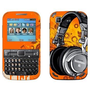 Виниловая наклейка «Наушники большие» на телефон Samsung C3222 Duos