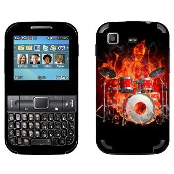 Виниловая наклейка «Огненные барабаны» на телефон Samsung C3222 Duos
