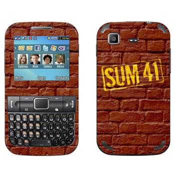 Виниловая наклейка «Панк-группа Sum 41» на телефон Samsung C3222 Duos