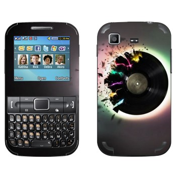 Виниловая наклейка «Разрушение грампластинки» на телефон Samsung C3222 Duos
