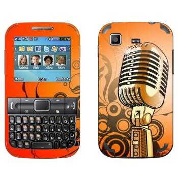 Виниловая наклейка «Ретро-микрофон» на телефон Samsung C3222 Duos