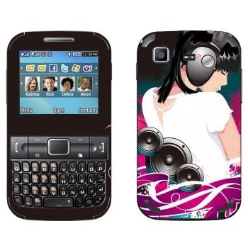 Виниловая наклейка «С музыкой по жизни» на телефон Samsung C3222 Duos