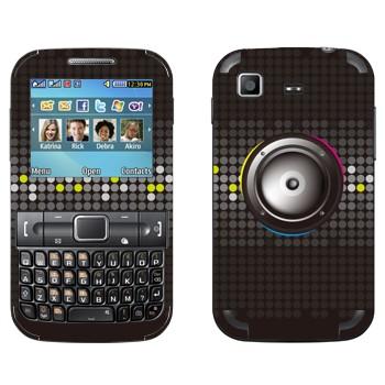 Виниловая наклейка «Серые динамики» на телефон Samsung C3222 Duos