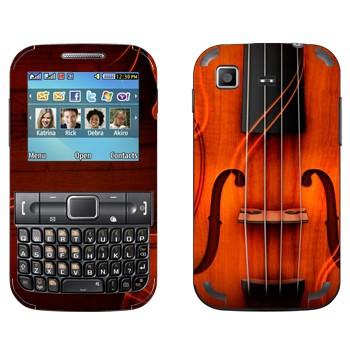Виниловая наклейка «Скрипка» на телефон Samsung C3222 Duos