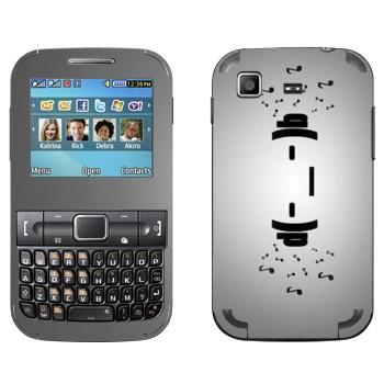Виниловая наклейка «Смайлик в наушниках» на телефон Samsung C3222 Duos