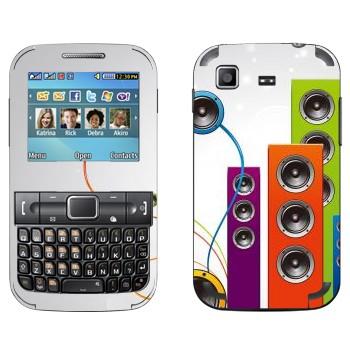 Виниловая наклейка «Вертикальные разноцветные колонки» на телефон Samsung C3222 Duos