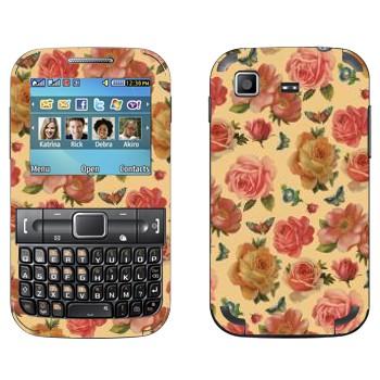 Виниловая наклейка «Алые розы на желтом» на телефон Samsung C3222 Duos