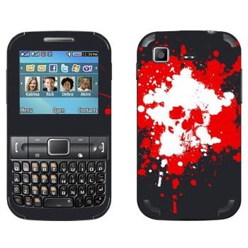 Виниловая наклейка «Череп нарисованный кляксами» на телефон Samsung C3222 Duos