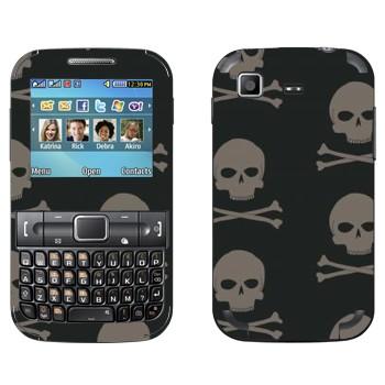 Виниловая наклейка «Черепа с костями» на телефон Samsung C3222 Duos