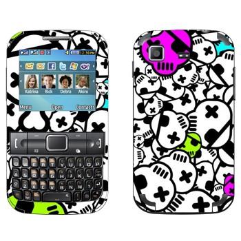 Виниловая наклейка «Черепа с повязкой» на телефон Samsung C3222 Duos