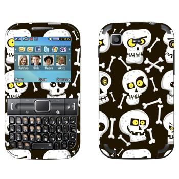Виниловая наклейка «Черепа в разном настроении» на телефон Samsung C3222 Duos