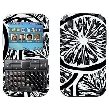 Виниловая наклейка «Черно-белые апельсины» на телефон Samsung C3222 Duos
