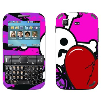 Виниловая наклейка «Эмо-череп и сердце» на телефон Samsung C3222 Duos