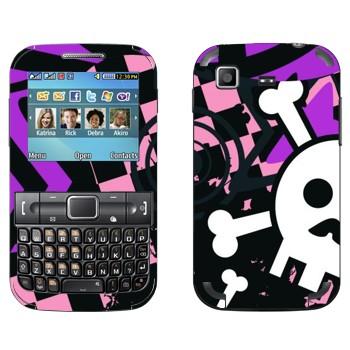 Виниловая наклейка «Эмо-череп орнамент» на телефон Samsung C3222 Duos