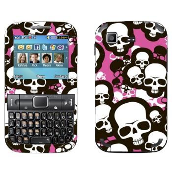 Виниловая наклейка «Эмо-черепа» на телефон Samsung C3222 Duos