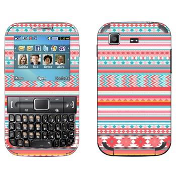 Виниловая наклейка «Хипстерский розовый узор» на телефон Samsung C3222 Duos