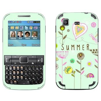 Виниловая наклейка «Летний орнамент» на телефон Samsung C3222 Duos