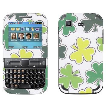 Виниловая наклейка «Листы клевера» на телефон Samsung C3222 Duos
